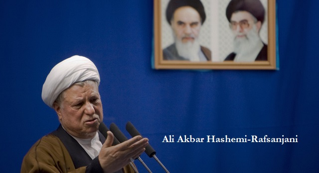 Iran's former president Ali Akbar Hashemi Rafsanjani delivers his speech during Friday prayers in Tehran April 24, 2009. Rafsanjani urged the United States on Friday to stop threatening Iran with more sanctions if it wanted to hold talks with the Islamic state over its disputed nuclear work.  REUTERS/Morteza Nikoubazl (IRAN RELIGION POLITICS) - RTXEBPS
