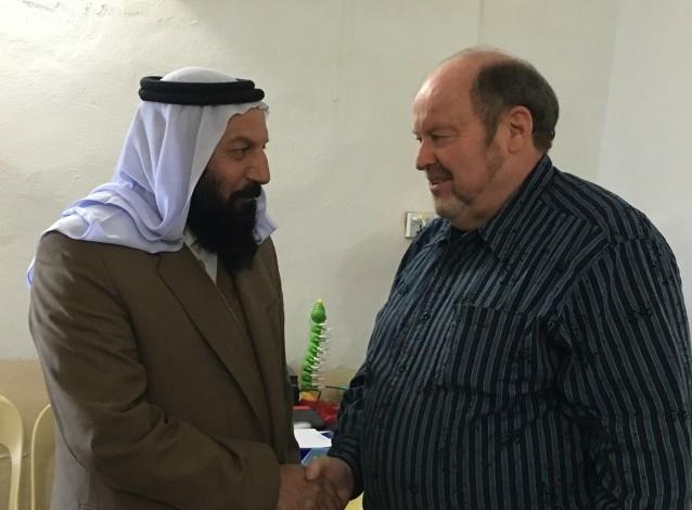 Bob Armstrong with Yazidi sheik in Kurdistan