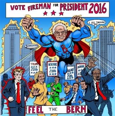 bernie sanders comic book cover